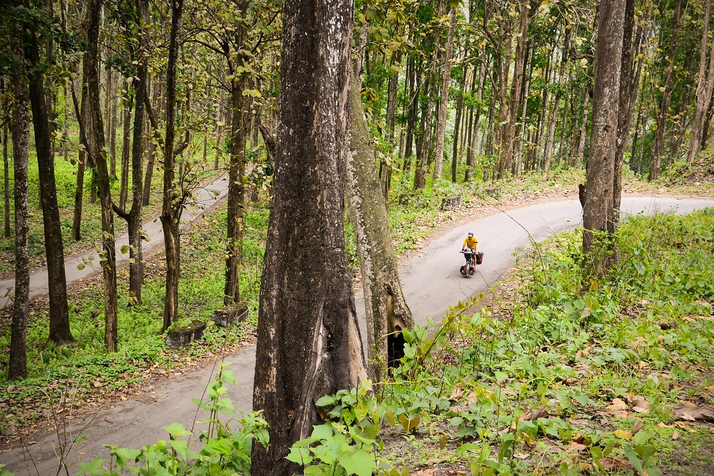 Getting our cycling legs in shape in the Himalayan foothills of West Bengal.