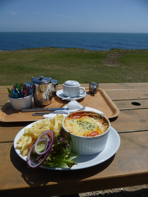 Lunch by the sea At the Portland Bill Cafe