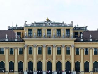 Image of Schoenbrunn Palace near Gemeindebezirk Rudolfsheim-Fünfhaus. schönbrunnpalace clock uhr reloj klok horloge orologio 時計 vienna austria habsburg baroque
