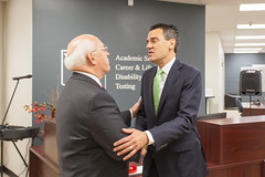 Dr. David Spittal with U.S. Rep. (KS) Kevin Yoder.