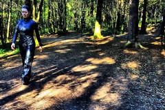 Meeting WALKING WOMAN in the sculpture park - Ekeberg. Norway