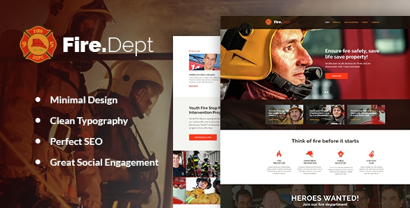 Fire Department v1.0 - Fire Station and Security WP Theme