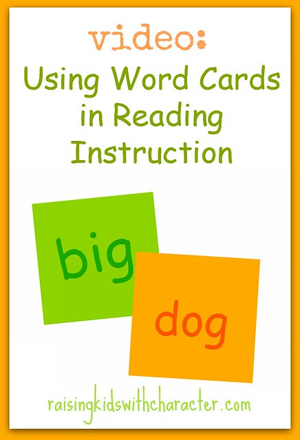 Using Word Cards in Reading Instruction