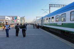 Night train from Toshkent at Buxoro train station