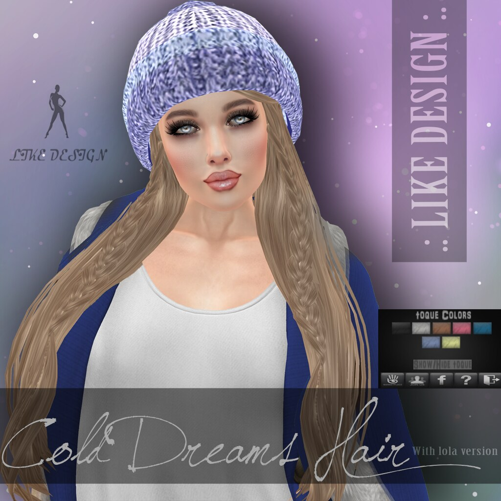 .: LIKE DESIGN :. Cold Dreams Hair - SecondLifeHub.com