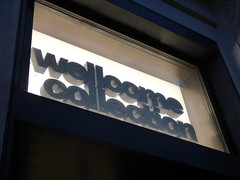 Wellcome Collection - Euston Road, London - sign