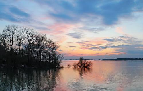 sunset serbia danube srbija dunav