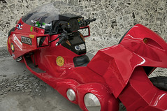 "The Full-scale motorcycle from the japanese popular comic ""AKIRA"" written by Mr.Otomo."