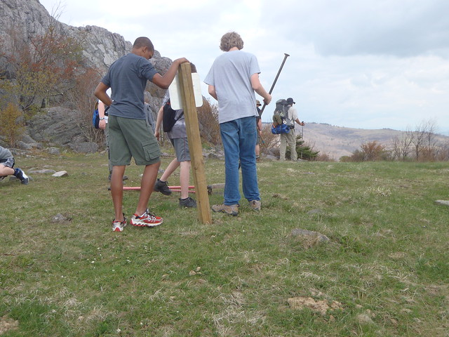 Boy Scout Troop 68 works on Earth Day projects at Grayson Highlands State Park