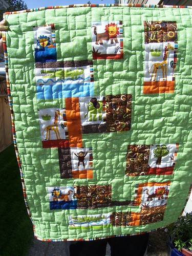 Animals in the Zoo baby quilt by NavyRev