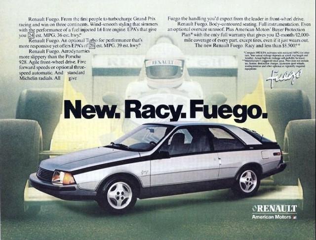 1982 Renault/AMC Fuego ad