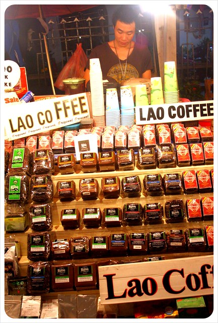 luang prabang night market lao coffee