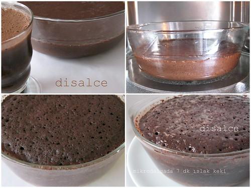 mikrodalgada ıslak kek (7 dk da)