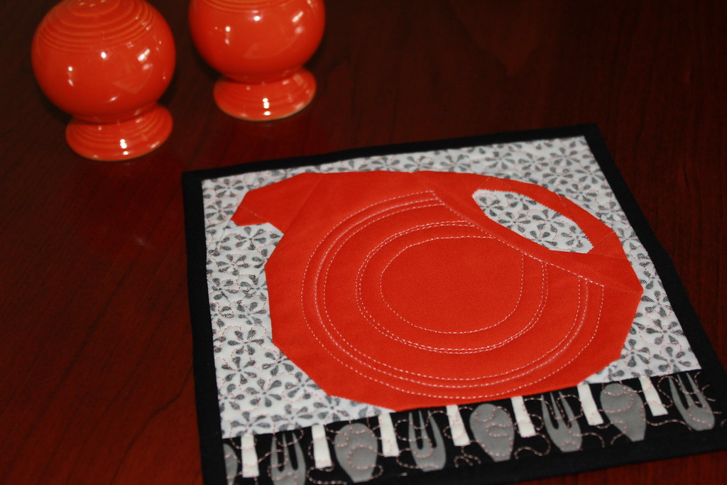 Disc Pitcher Mug Rug