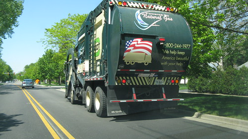 Groot Disposal Company Mack front end loader garbage truck.  Glenview Illinois. May 2012. by Eddie from Chicago