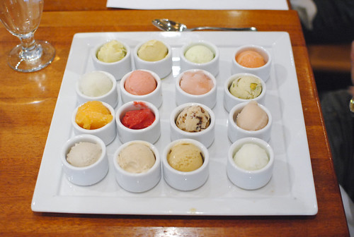 rick's tasting game 16 flavors of ice cream and sorbet served blind