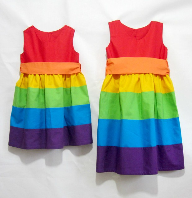 rainbow party frocks front 2