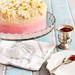 Brown Butter Pink Ombré Daisy Cake with Strawberry Jam