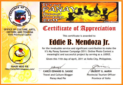 Photo Contest Certificate
