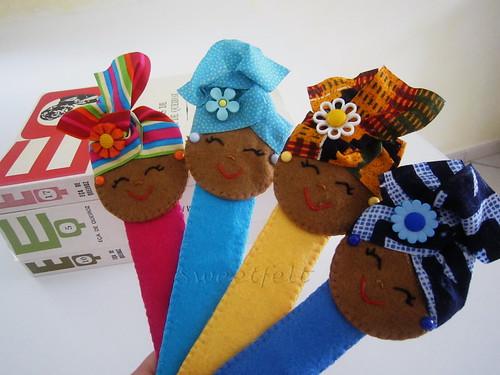 ♥♥♥ Marcadores Afrikanoskas... by sweetfelt \ ideias em feltro