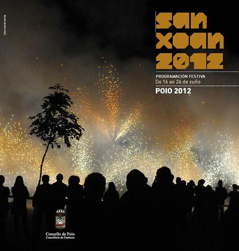 Poio 2012 - Festas do San Xoán - cartel tríptico