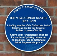 Photo of John Falconar Slater blue plaque