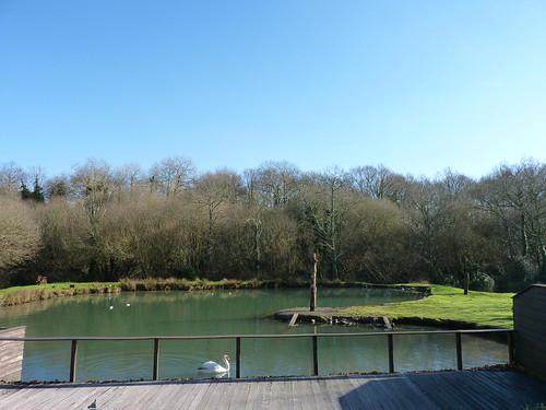Vue sur l'étang, le Finistère, Bretagne, visitez la pointe du raz et Locronan.