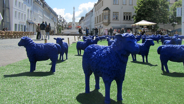 Blue sheep of Bertamaria Reetz and Rainer Bonk