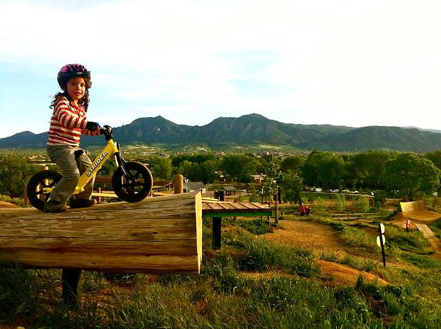 Mountain Biking Jump - Valmont Bike Park, Boulder CO