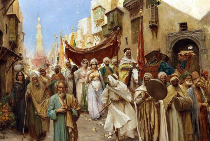 Escena callejera. Obra de Fabio Fabbi (1861-1946)