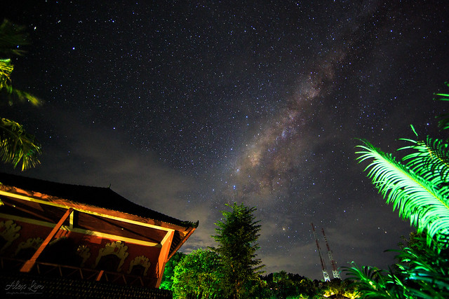 Milky Way above our hotel roof
