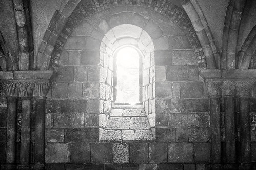 B&W Window in Cloister with Flare 6-0 F LR 6-9-13 J064