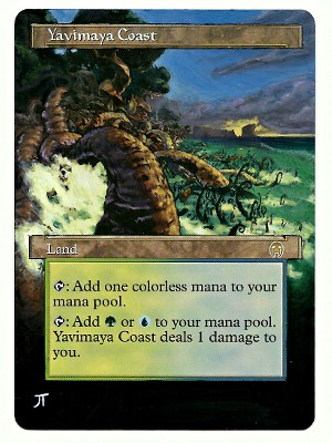 Yavimaya Coast Altered Art Magic the Gathering mtg artwork art