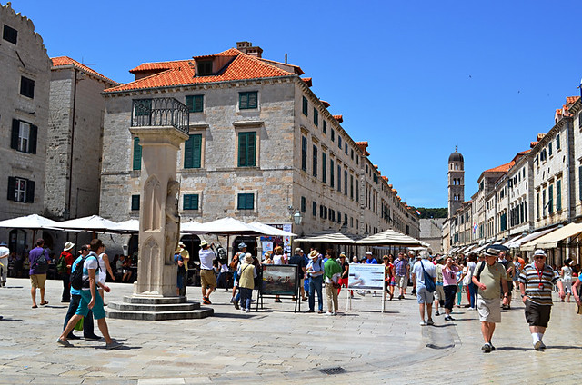 Tourists in Dubrovnik Old Town, Croatia