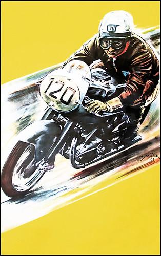 1954 NSU Poster by bullittmcqueen