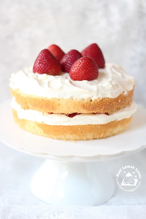 Nasi Lemak Lover: Japanese Strawberry Shortcake 日式草莓蛋糕