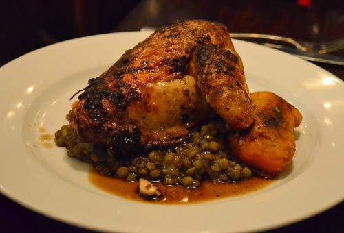 Chicken Breast over Lentils