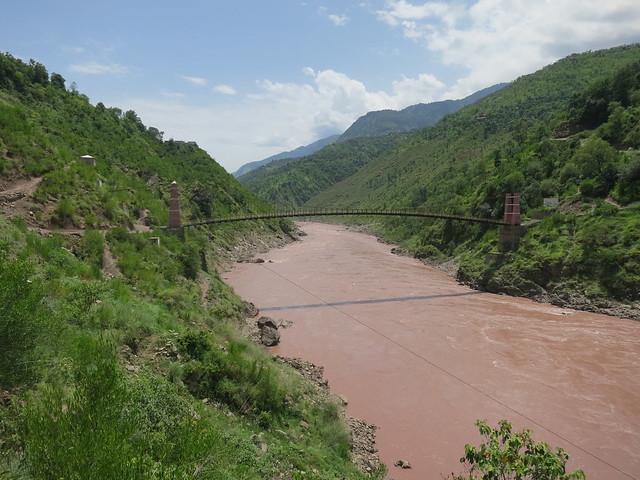 Suspension bridge over Jhelum River