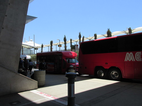Mexicoach buses idling at the San Diego International Airport.  San Diego California.  June 2013. by Eddie from Chicago