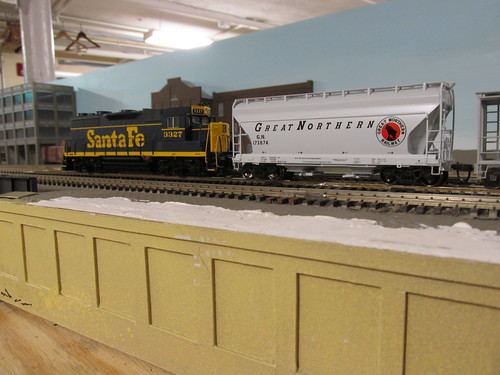 A 1960's era Santa Fe way freight passing by. by Eddie from Chicago