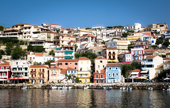 Parga town, Greece, in the morning sun.