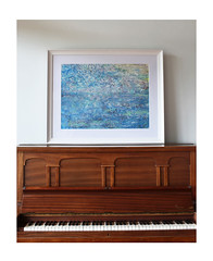 Framed Original Paintings - Blue Planet
