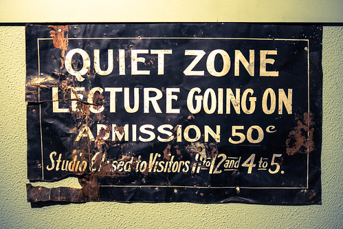 Quiet Zone, Lecture Going On