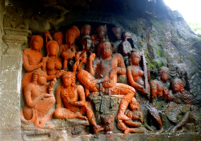 Lonad Caves - Carved Fresco of Jataka Tale of Vishwantara (Vessantara)