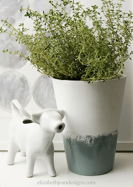 Glazed Herb Planter 1