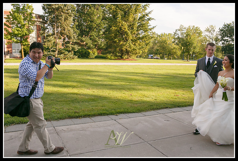 Rochester NY Wedding Photographer Andrew Welsh University of Rochester Chapel Max at High Falls