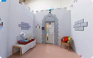 Creche for Babies - outside, it's a castle