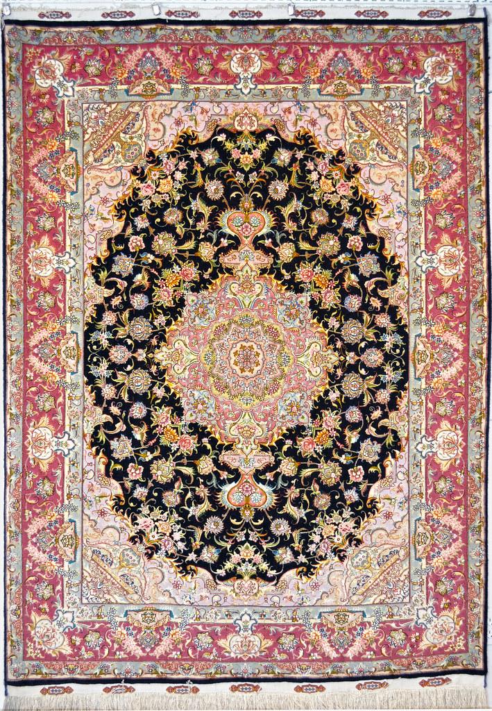 Gharebaghi 70 Raj Silk Persian Rug Item Ba 32 990