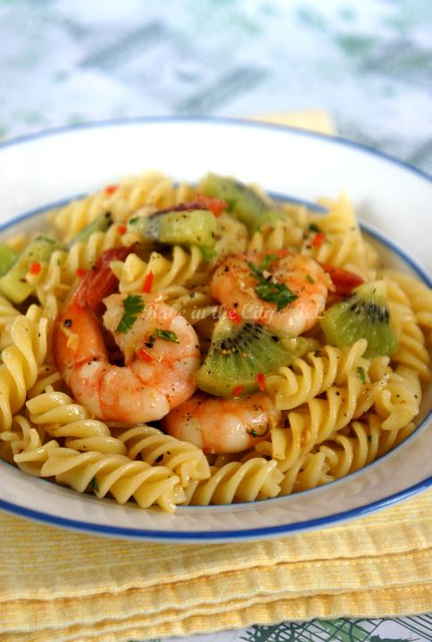 Day 12 Prawn and Zespri® Green Kiwifruit Aglio Olio Pasta