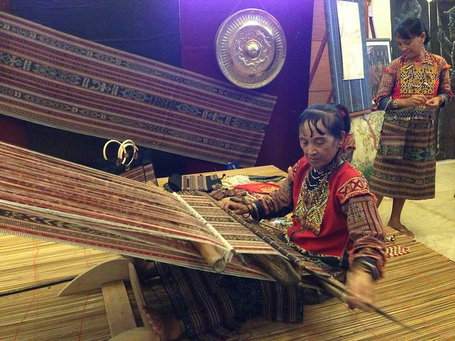 Annual Kadayawan Fiesta at Apo View Hotel Davao- dagmay weaving by Mandaya tribe woman